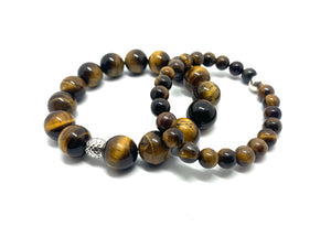 Large Stone Tiger Eye Bracelet