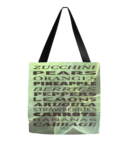 Grocery List Large Tote
