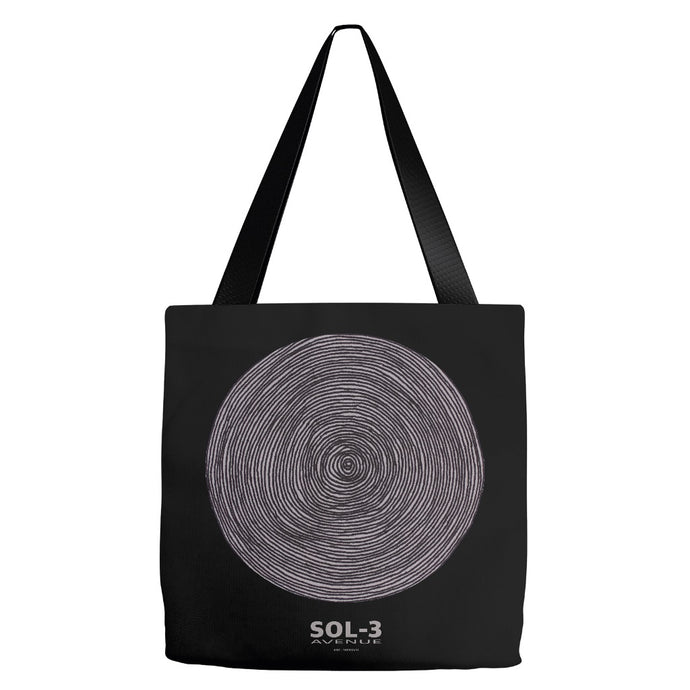 Spiral Large Tote Black by SOL-3 Avenue