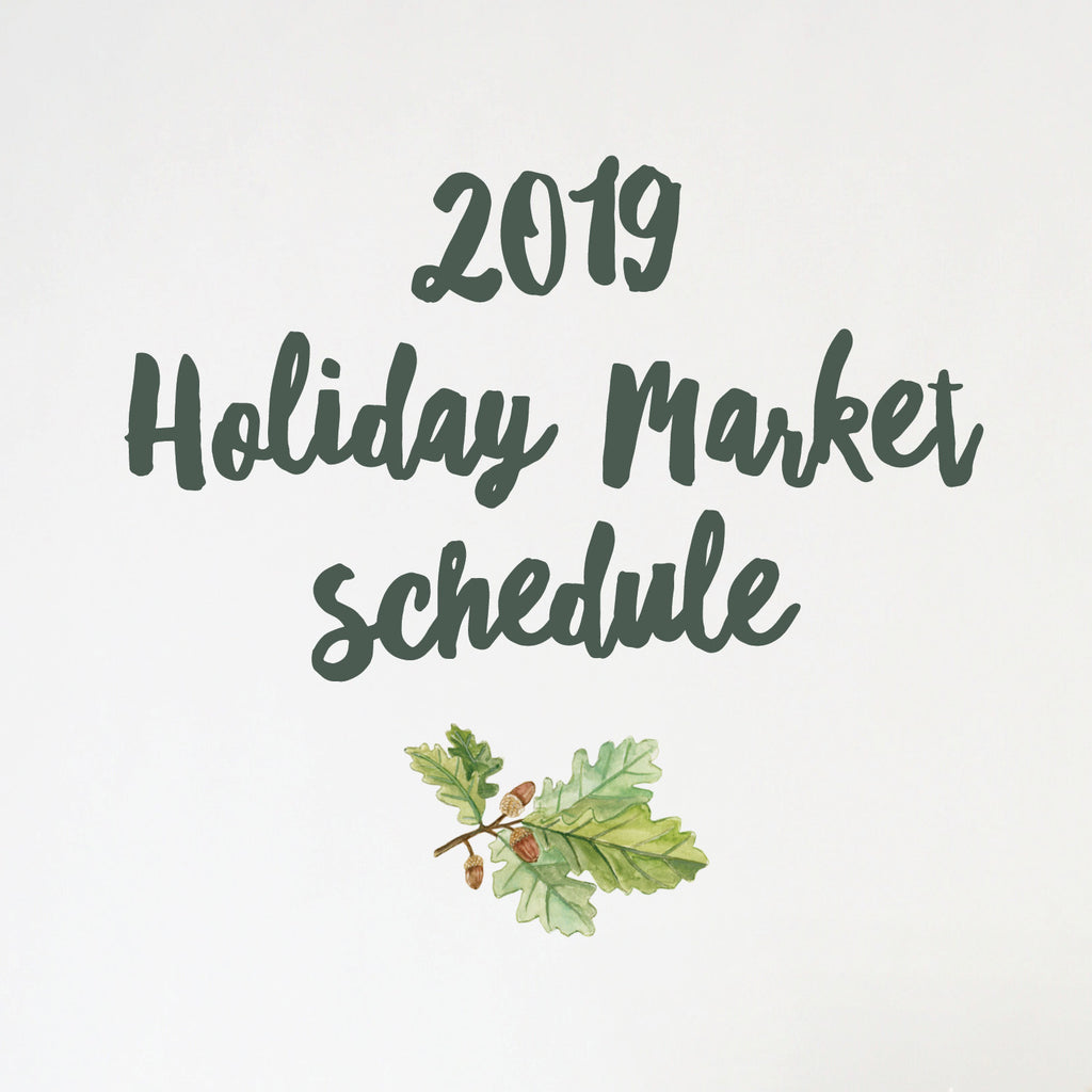 Lana's Shop 2019 Holiday Market Schedule