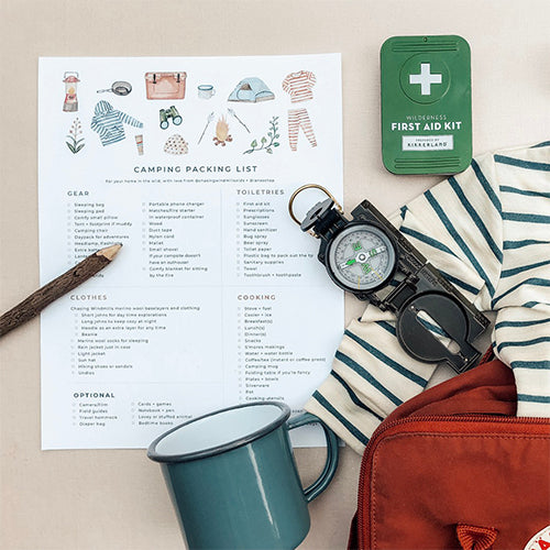 FREEBIE: Camping Packing List
