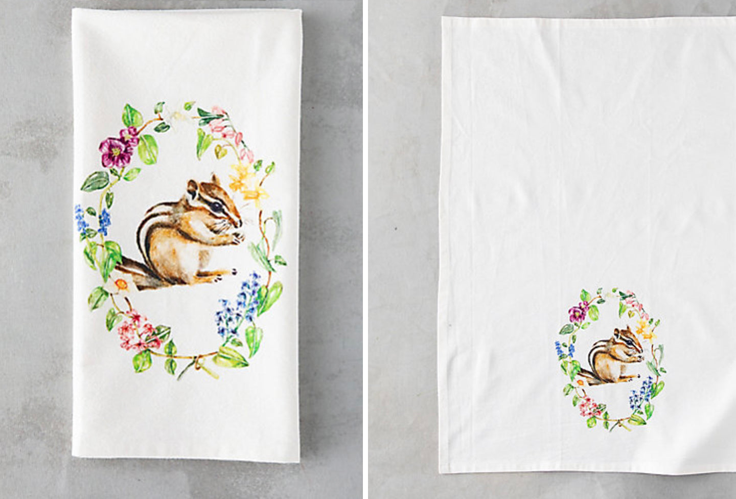 Woodland Critter Spring Tea Towels