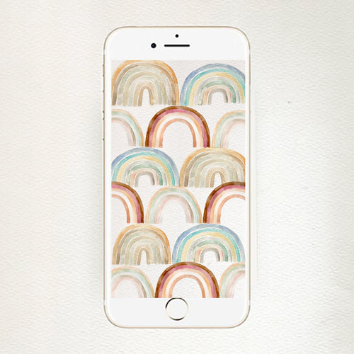iPhone wallpaper: rainbow pattern