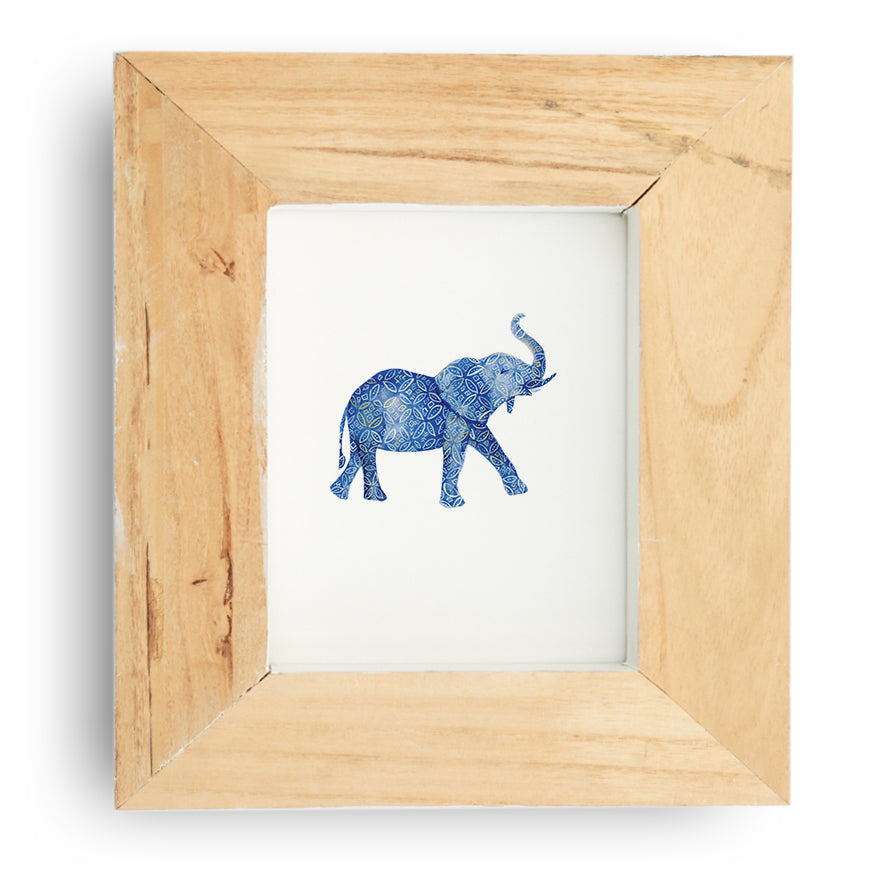 Patterend Elephant Art Print