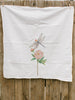 Dragonfly and Peony Tea Towel