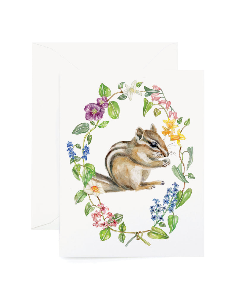 Botanic Chipmunk Card