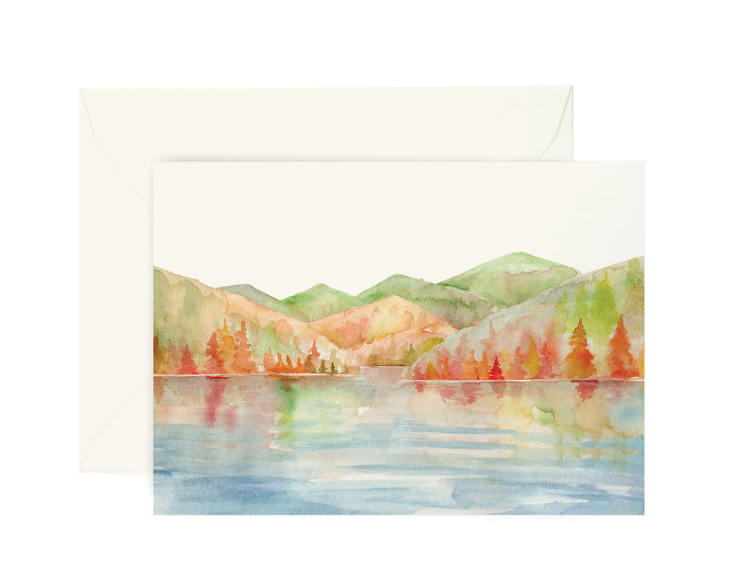 Autumn Lake Card