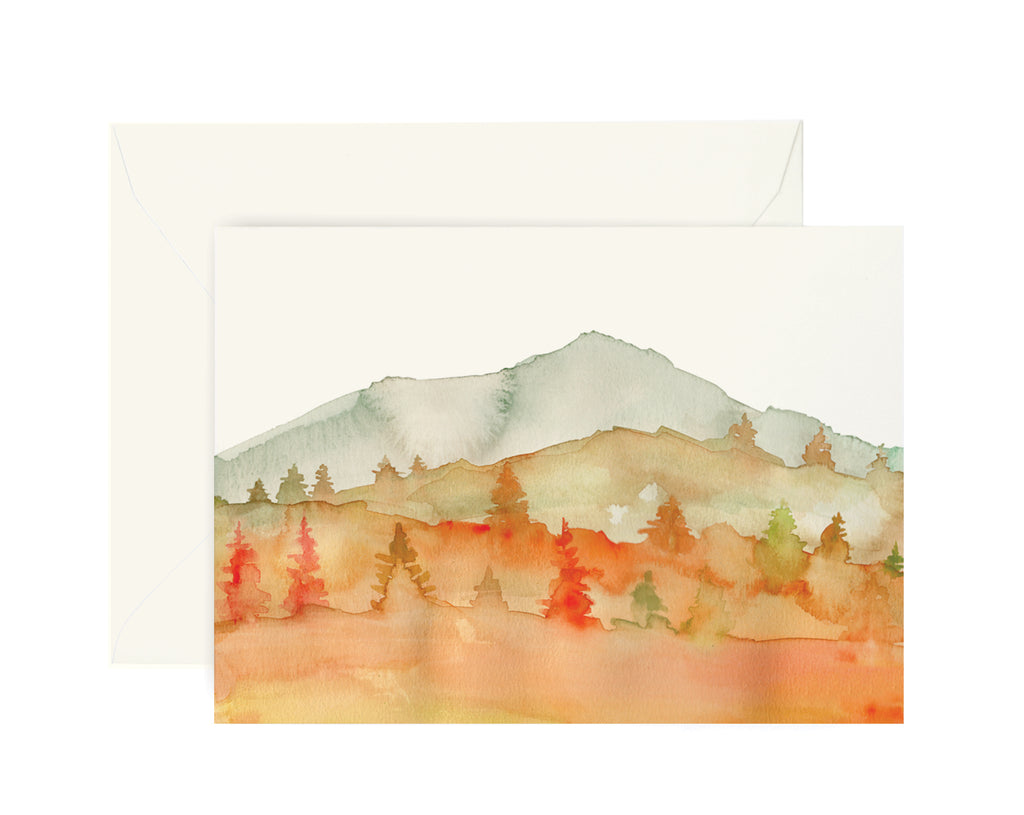Autumn Mountain Card