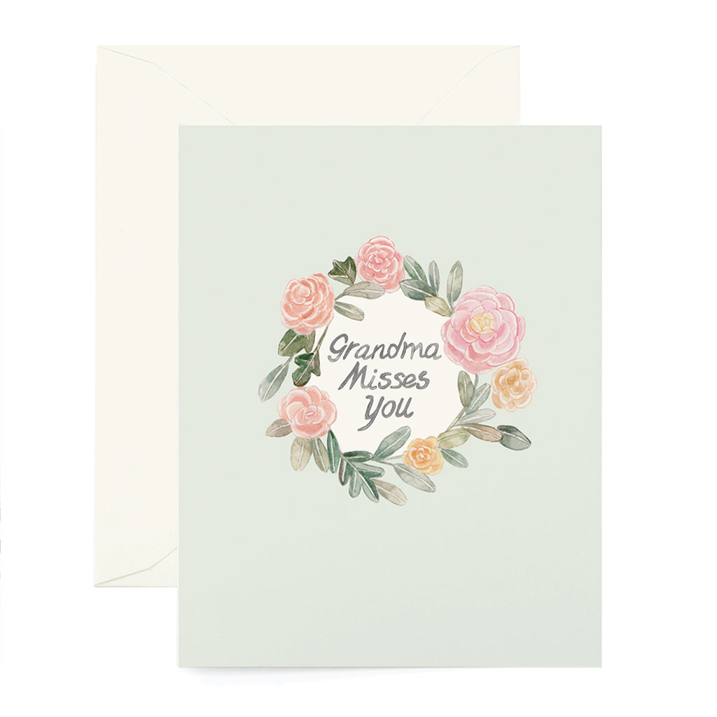 Grandma Wreath Card