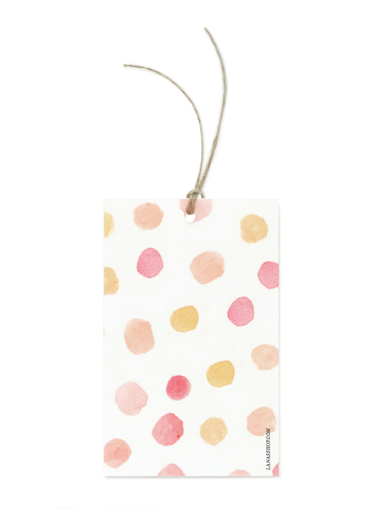 Coral Dot Gift Tags