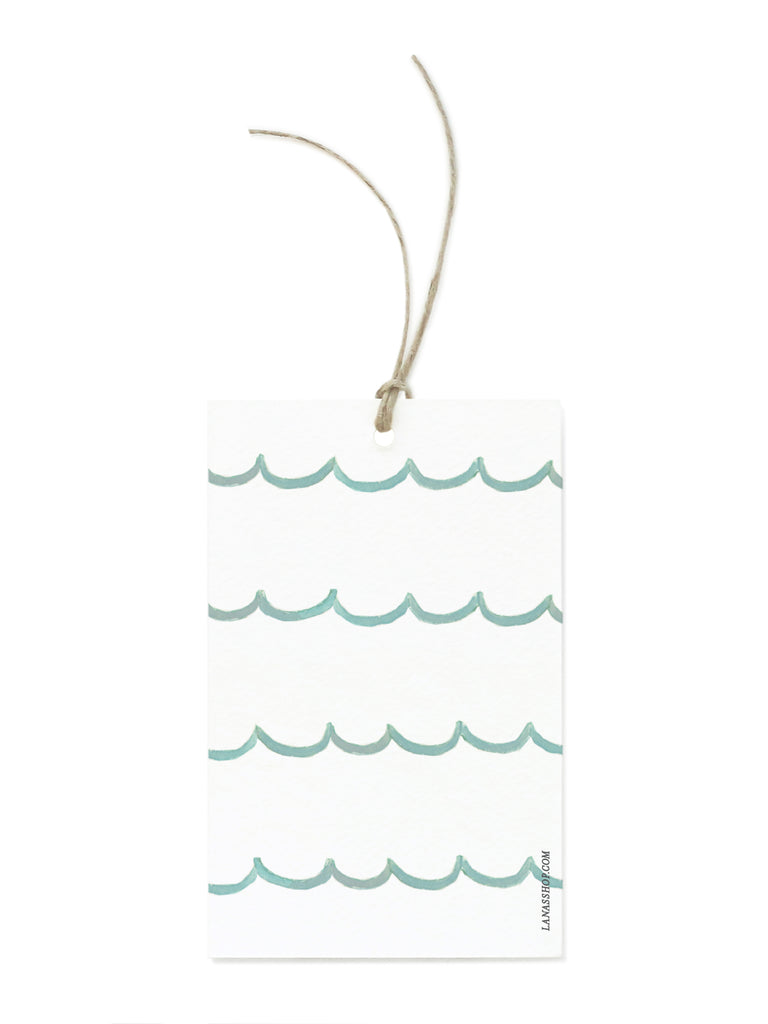 Turquoise Scallop Gift Tags