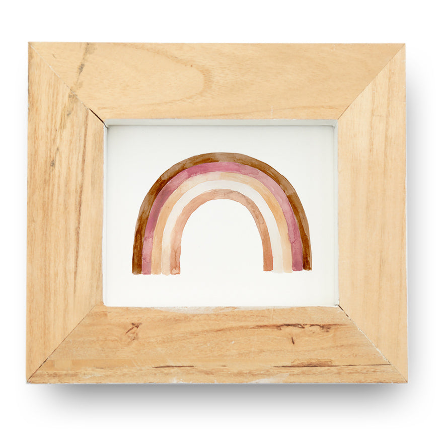 Rainbow Art Print in Pink