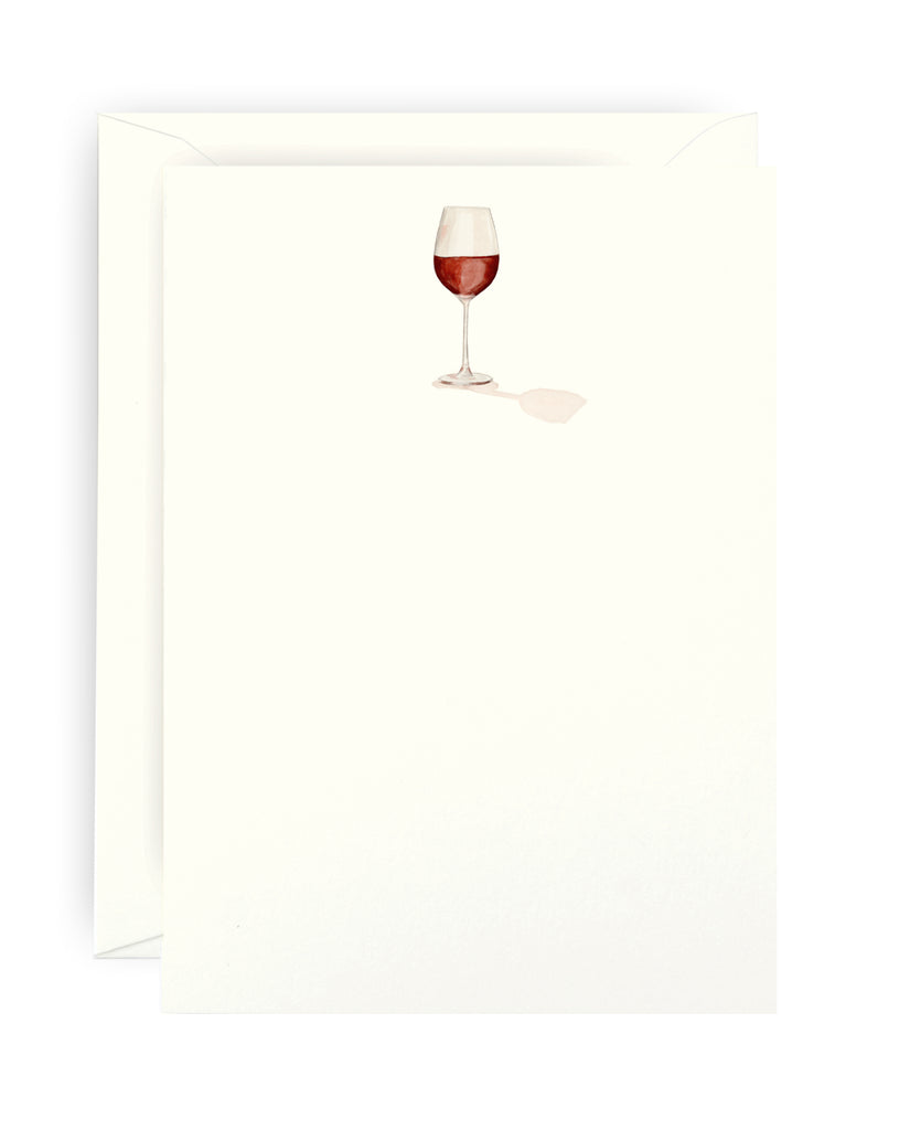 Red Wine Note Card