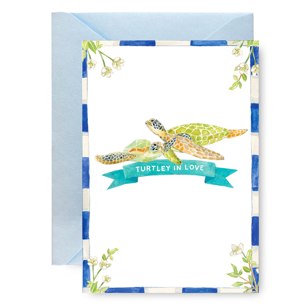 Turtley in Love Card