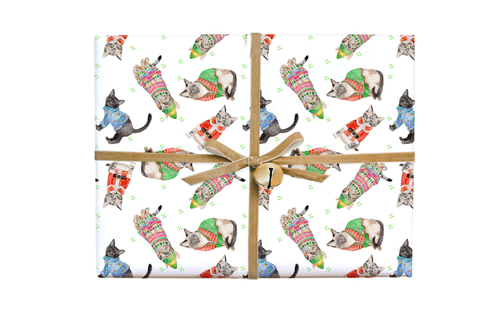 Merry Cats Gift Wrap