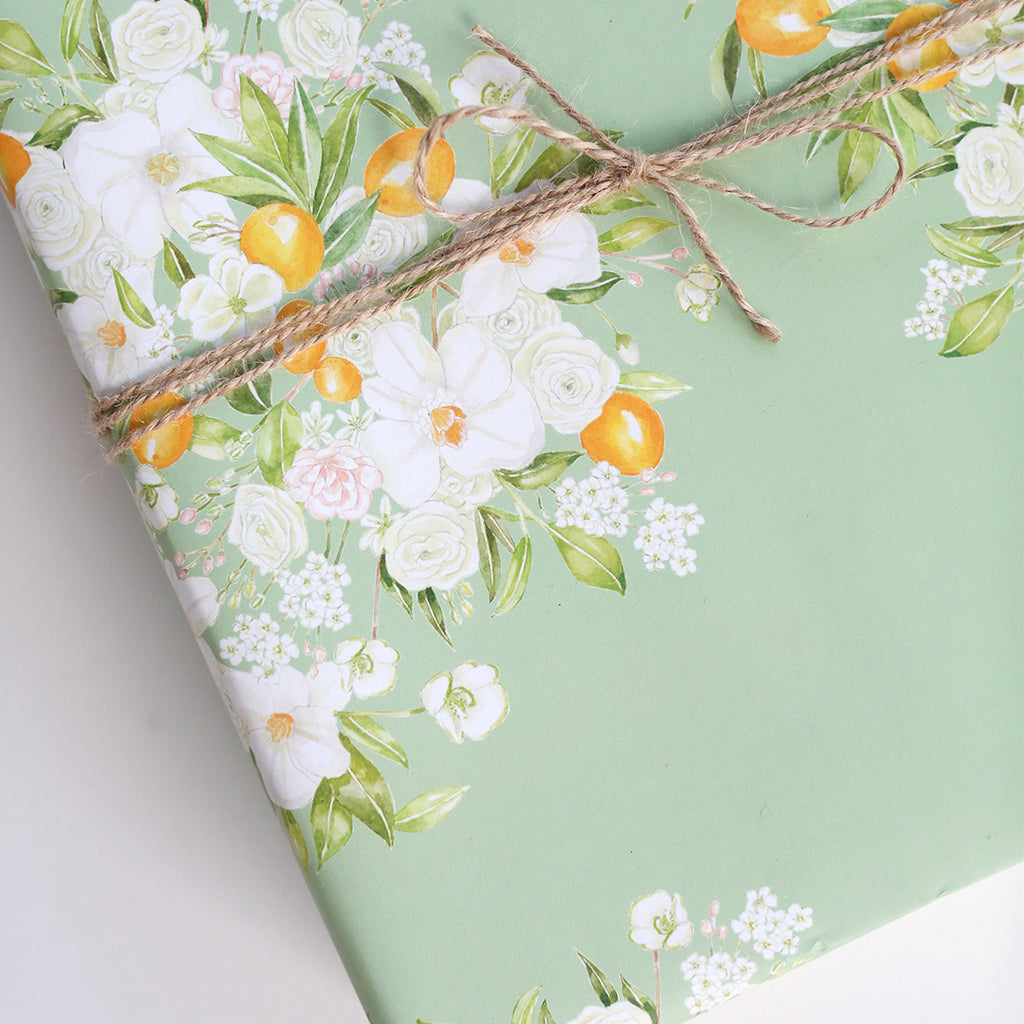 Floral Bursts Gift Wrap