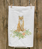 Painted Fox Tea Towel