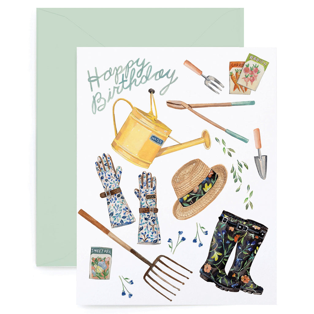 Birthday Gardener Card Lanas Shop