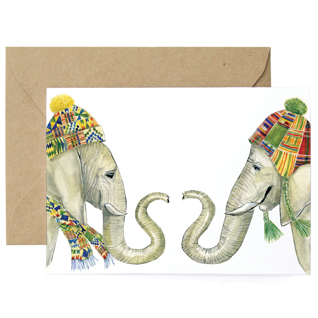 Winter Elephants Card