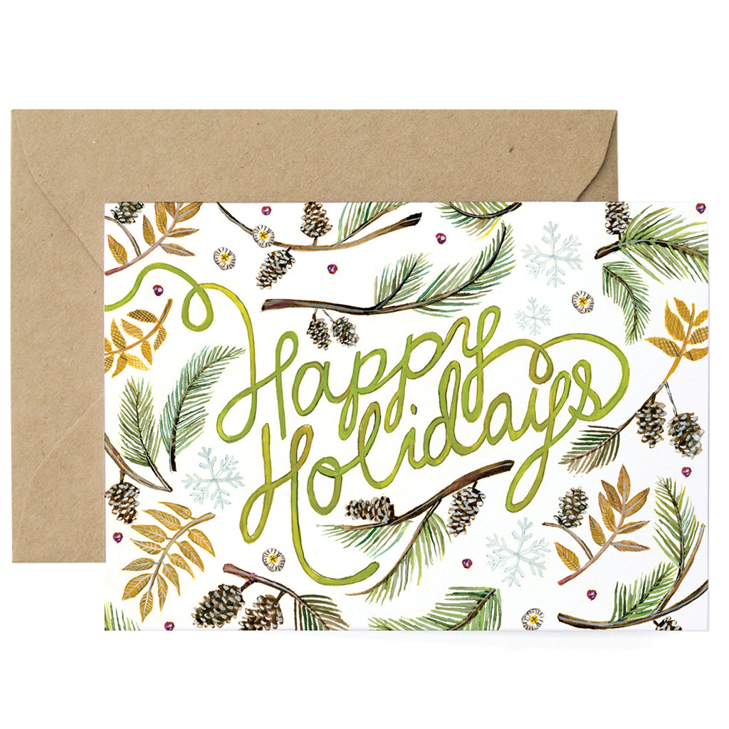 Holiday Greenery Card