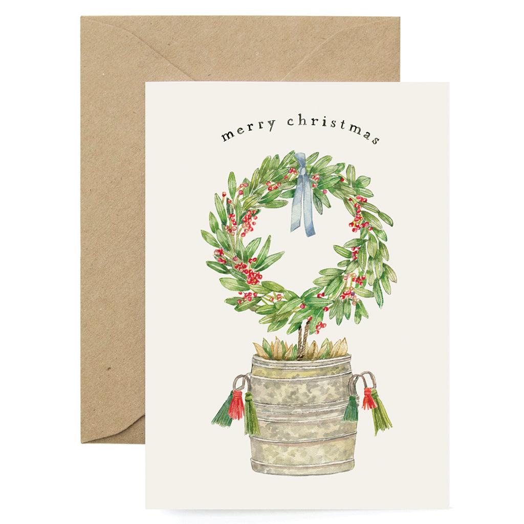 Holiday Wreath Card