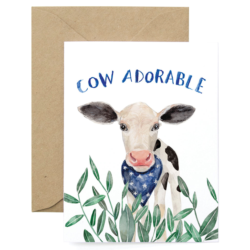 Cow Adorable Card