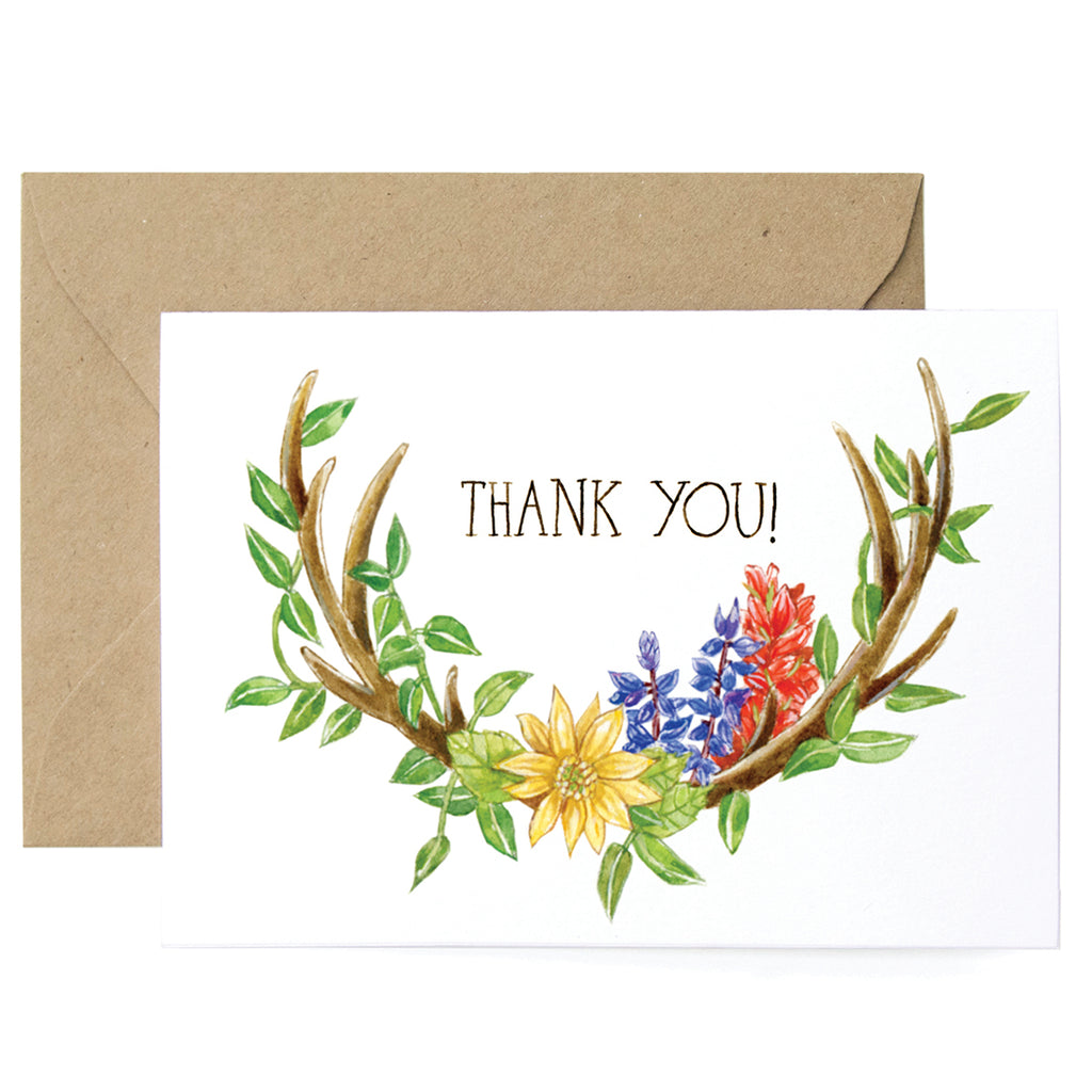 Thank You Antlers Card