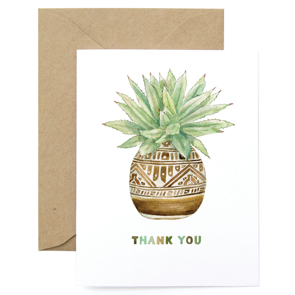 Thank You Planter Card