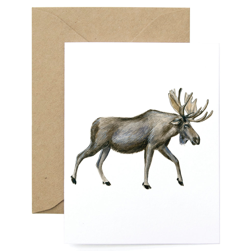 Moose Thanks Card