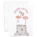 Flamingo Couple Card