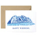 Mountain Town Wedding Card