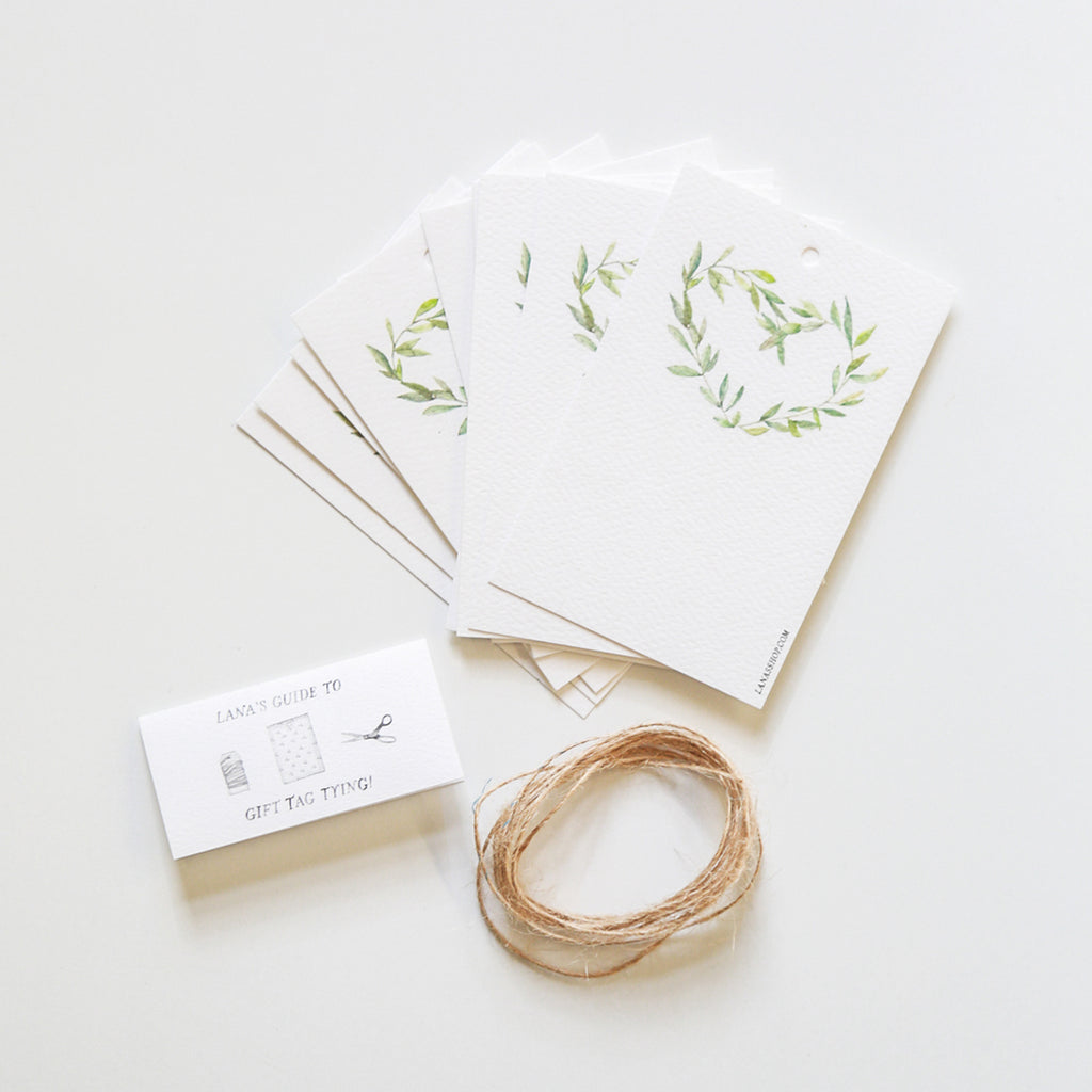 Garland Wreath Gift Tag Set