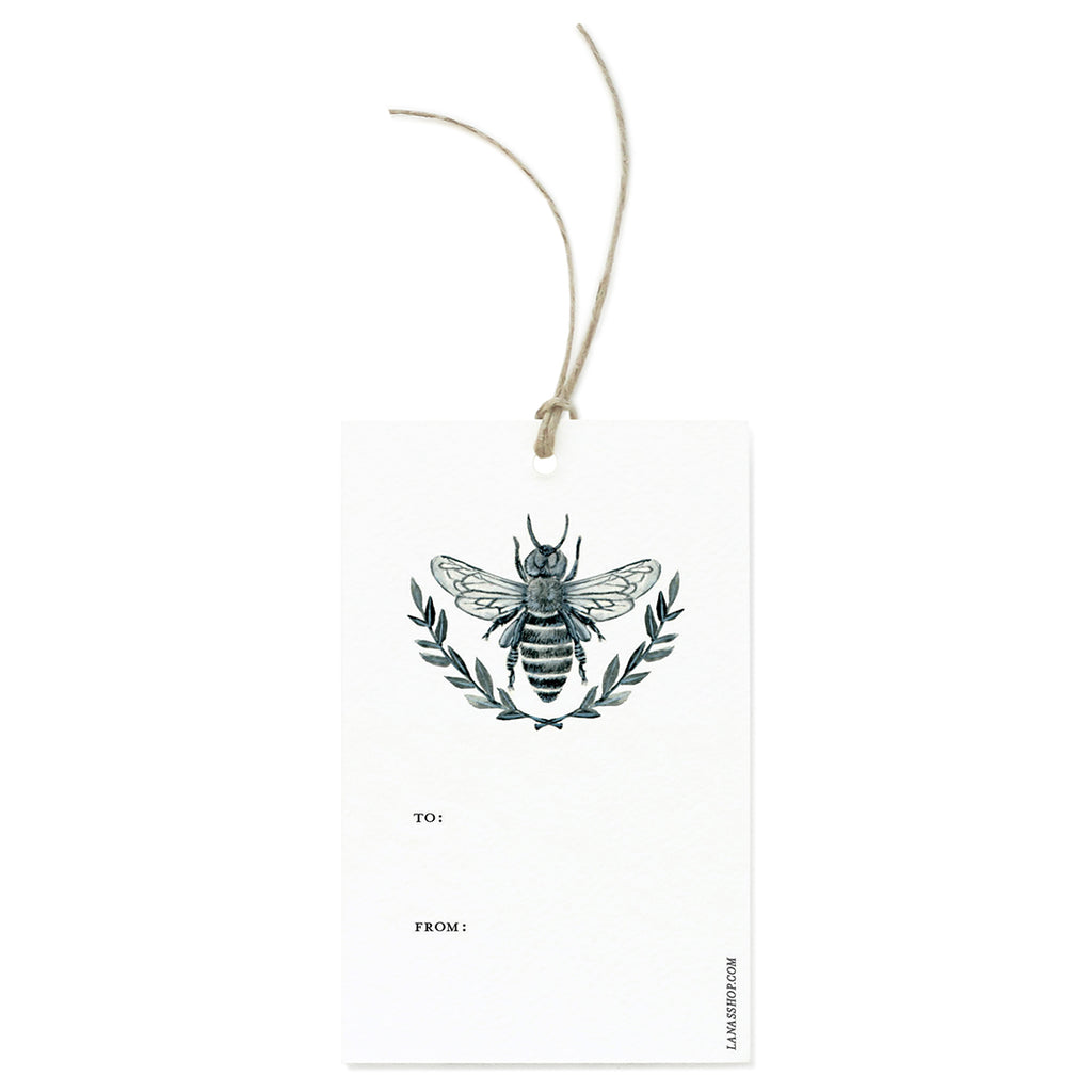 Black and White Bee Tag Set