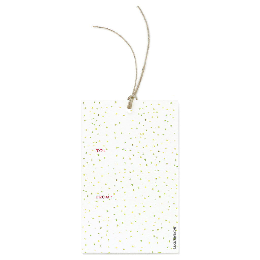 Green Dots Gift Gift Tag Set