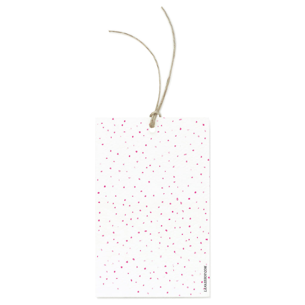 Pink Dots Gift Tag Set