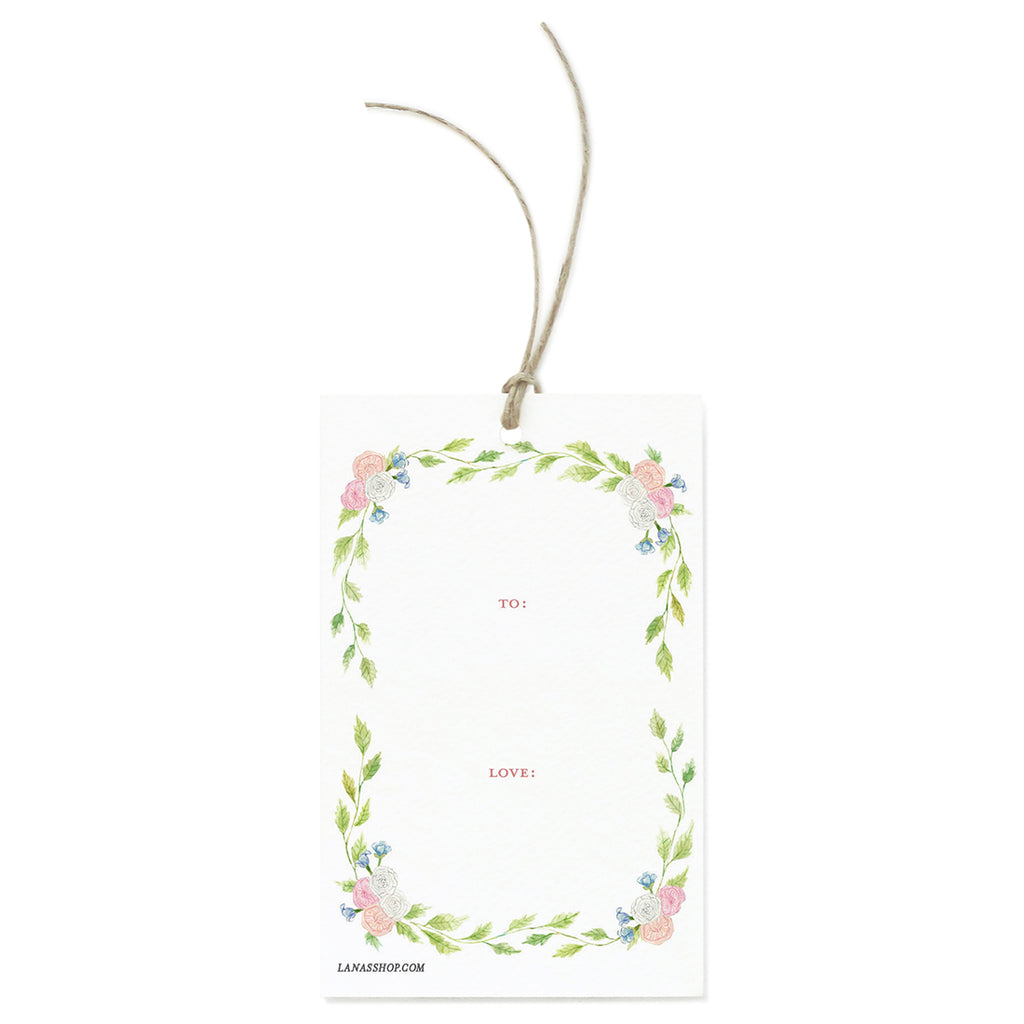 Floral Wreath Gift Tag Set