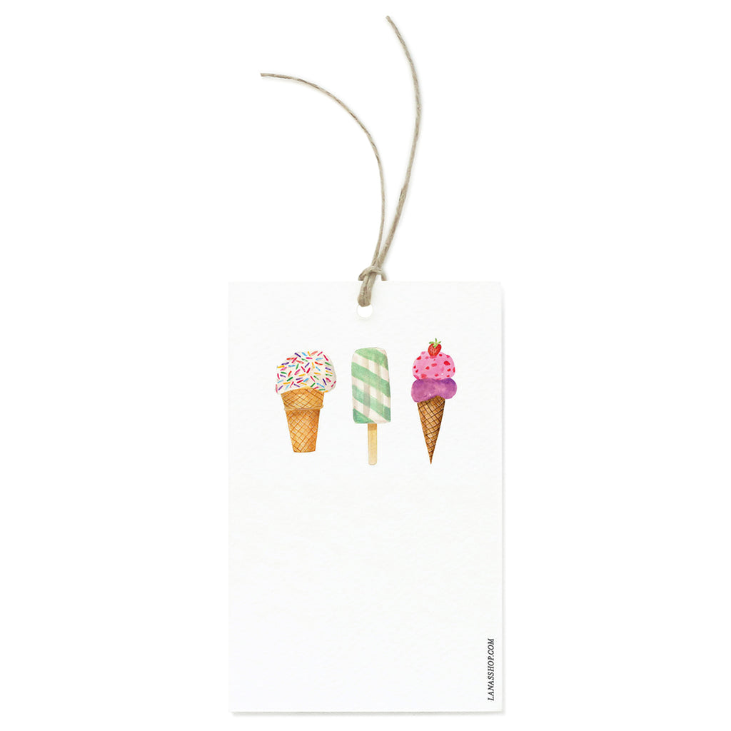 Ice Cream Cone Gift Tag Set