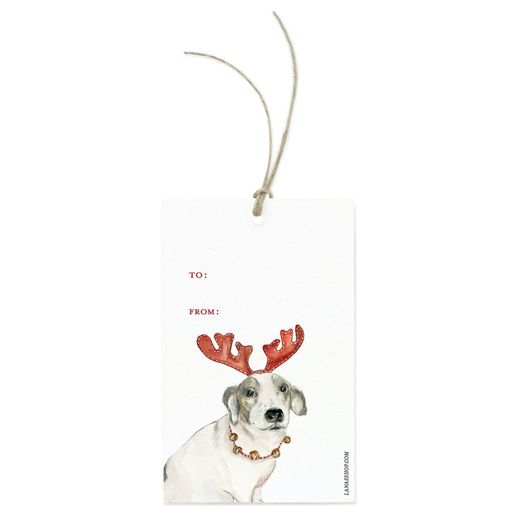 Reindeer Dog Gift Tag Set