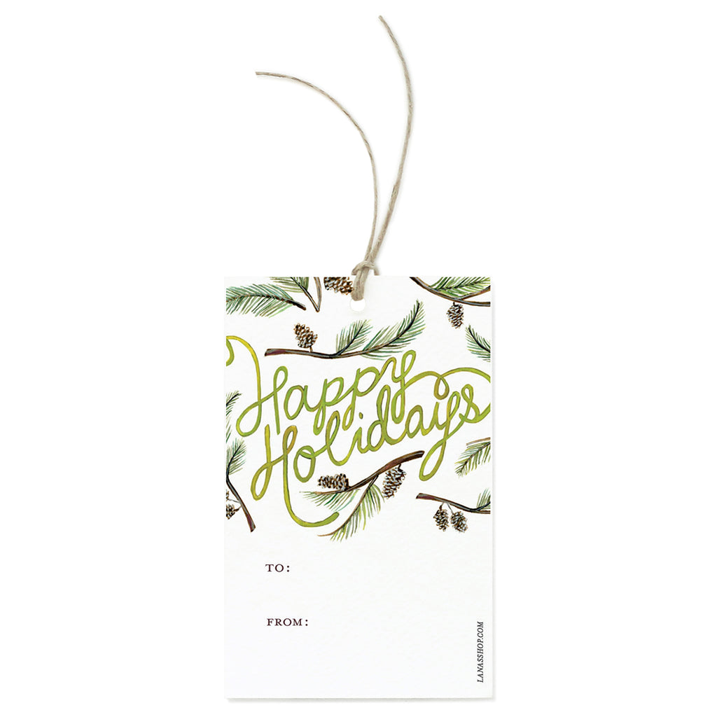 Holiday Greenery Gift Tag Set