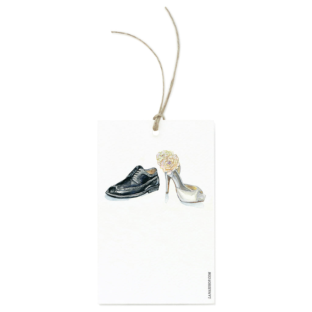 Wedding Shoes Gift Tag Set