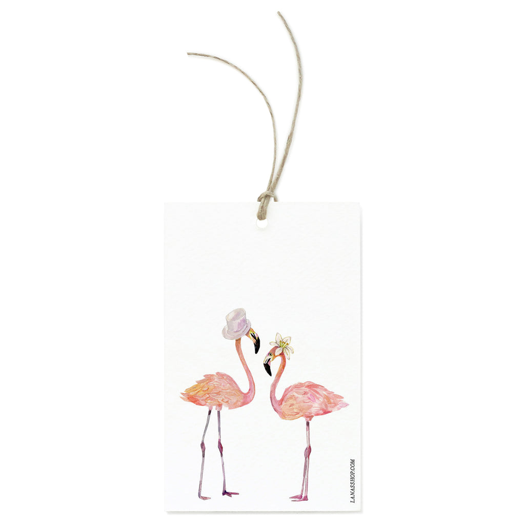 Flamingo Couple Gift Tag Set