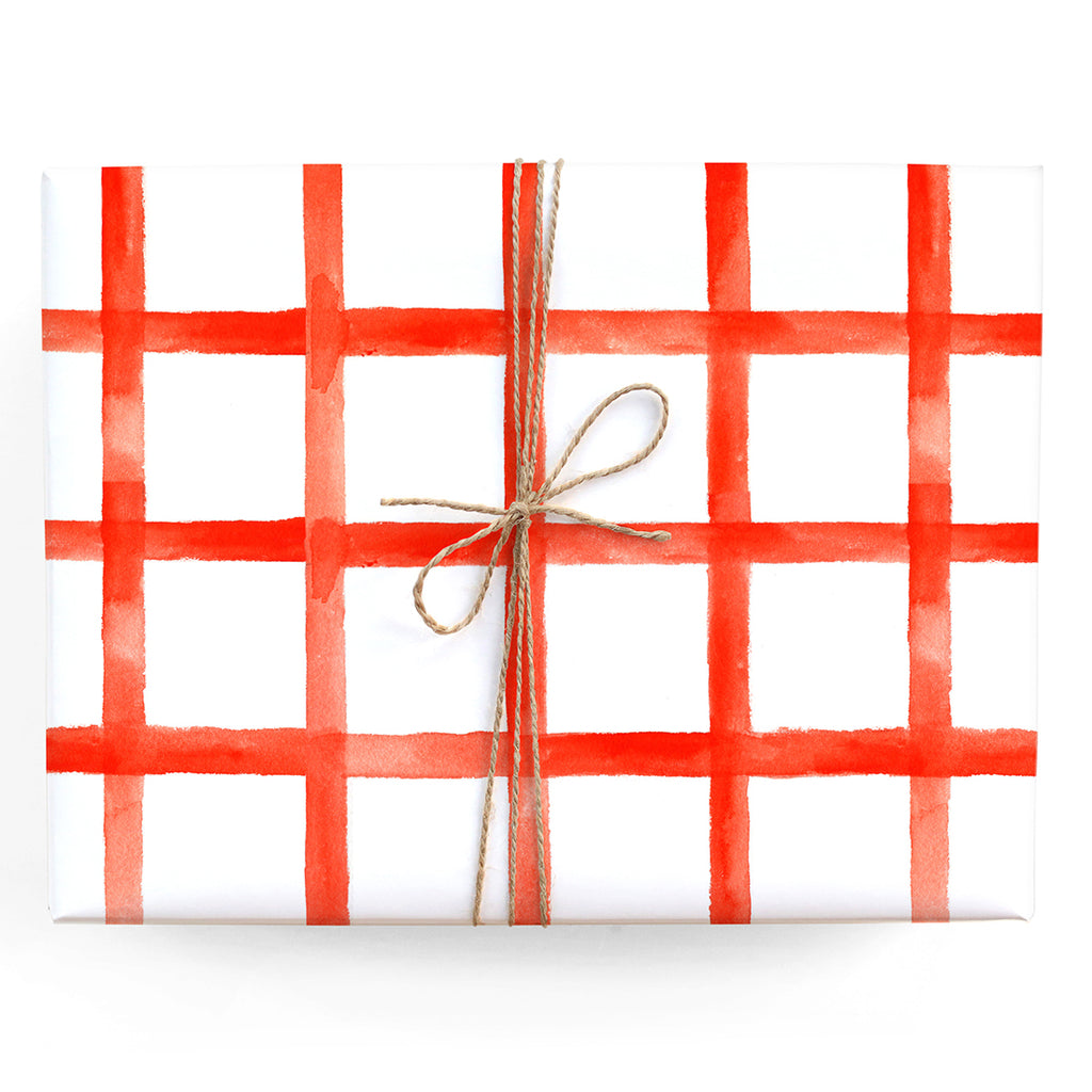 Red Checkered Gift Wrap