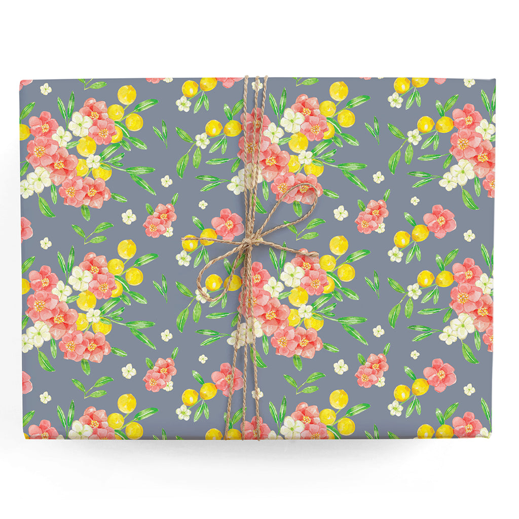 Lemon Bouquets Gift Wrap