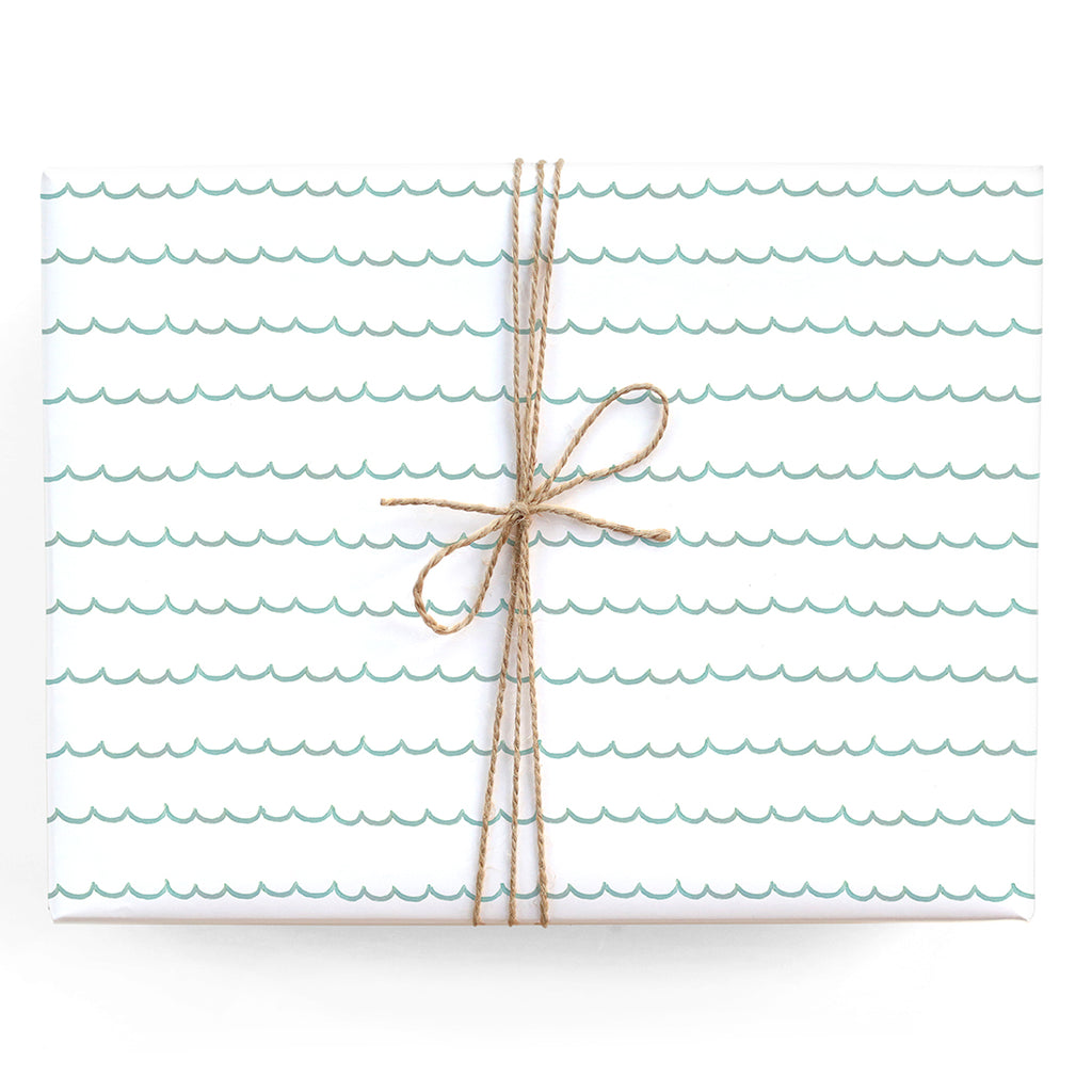 Turquoise Scallop Gift Wrap