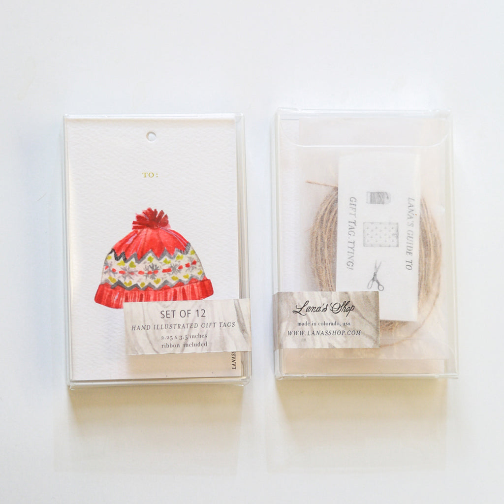 Winter Hat Gift Tag Set