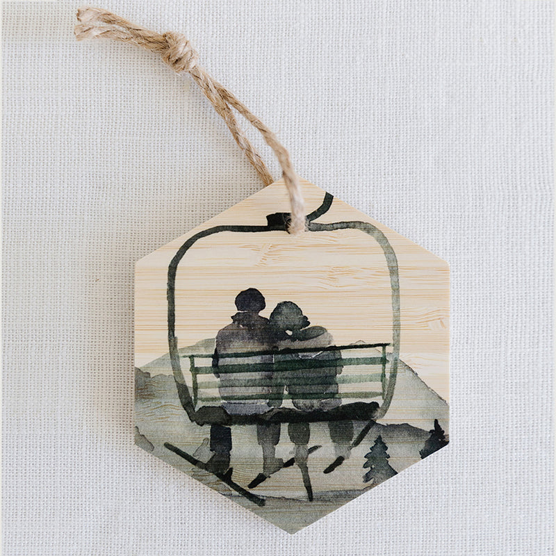 Gondola Couple Ornaments