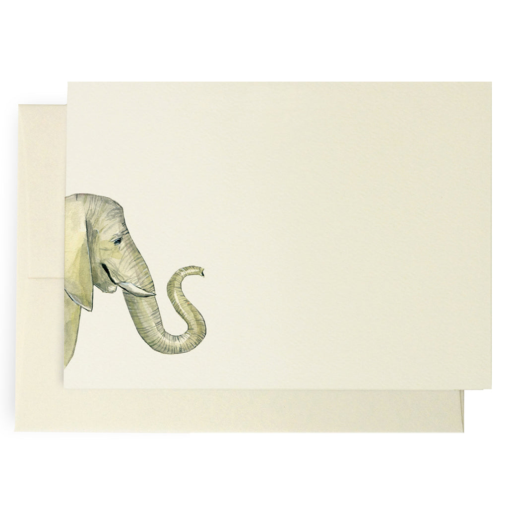 Safari Grey Elephant Note Cards
