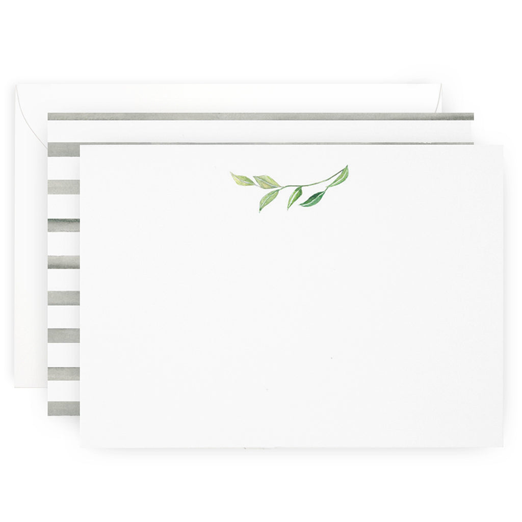 Leaf Sprig Note Cards