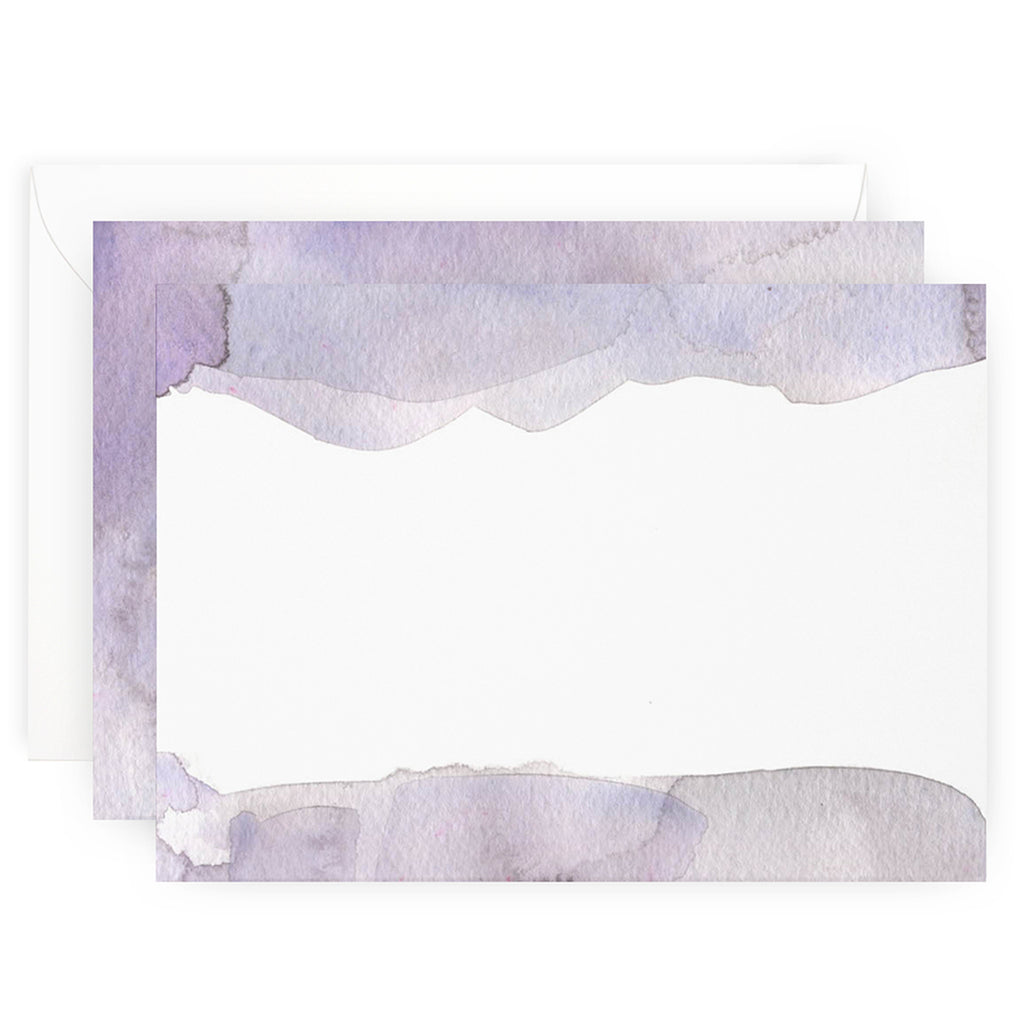 Purple Wash Note Cards