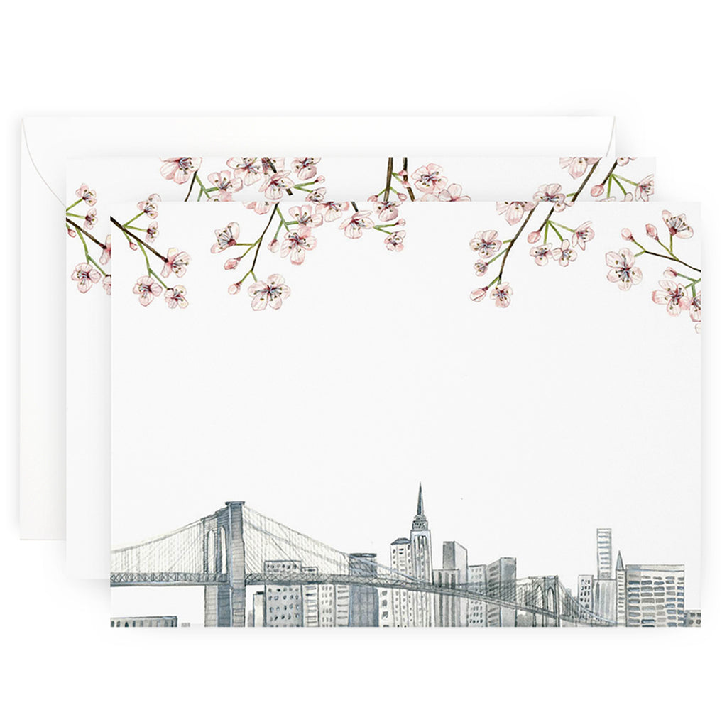 New York Skyline Note Cards